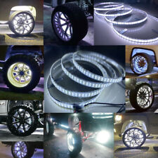"DOUBLE ROW ~ 4x 15.5"" LED Rings Wheel Lights w/ Turn Brake illuminated For Truck"