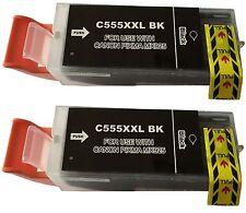 2 Cartucho con Chip para CANON PGI 555 XXL IX6850 MX725 MX925