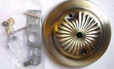 "5 1/4"" Antique Brass Finish Steel CHANDELIER CEILING CANOPY Kit w/ Screws #801A"