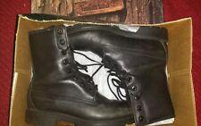 "Timberland Men's / Boy's 8"" Black Leather W/P Lug Boots Size 4.5"