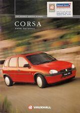 Vauxhall Corsa 1996-97 UK Market Sales Brochure Merit LS GLS Sport CDX