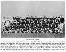 1962 OAKLAND RAIDERS AFL FOOTBALL TEAM 8X10 PHOTO PICTURE CALIFORNIA