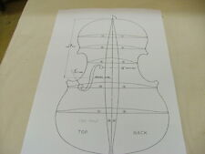 Violin Plans:   Strad 1716 Outline and Archings.