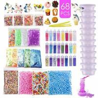 DIY Slime Supplies Kit für Kinder Schleim Selber Machen mit Unicorn Charms