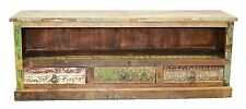 Recycled Timber Carved Country TV Stand Entertainment Unit Sideboard Industrial