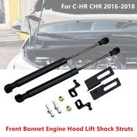 2X Front Bonnet Engine Hood Lift Shock Struts Trim For Toyota C-HR CHR 2016-2018