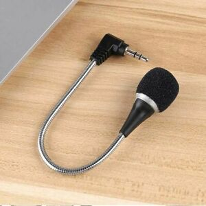 3.5mm Flexible Mini Microphone Mic for Laptop Notebook PC Podcast Skype Chat