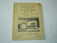Massey Harris 81 82 tractor parts catalog book manual list