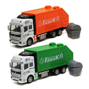 Pull Back Garbage Truck Toy Die Cast Friction Powered Toy Car For Boys Kids 1:48