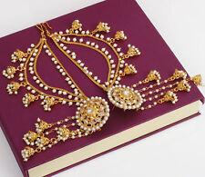 Indian Bollywood Bahubali Earrings With Pearl Jhumka Jhumki Kaan Chain Jewelry