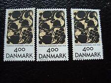 DANEMARK - timbre yvert et tellier n° 1140 x3 obl (A33) stamp denmark