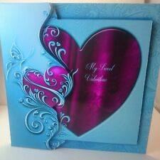 Handmade 3D hearts Valentine's day  card wife husband hearts