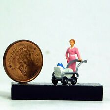 Preiser 1/87 Ho Woman w/Baby Carriage 28037
