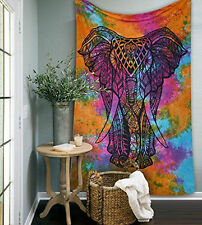 Indian Elephant Wall Hanging Urban Twin Tapestry Bedspread Wall Decorative Arts
