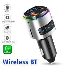Car Cigar Plug Bluetooth Fm Transmitter Mp3 Radio Adapter Kit Qc3.0 Usb Charger