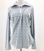 Columbia Women's Gray Lattice Half-Zip Microfleece Pull-Over Size Medium NEW