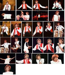 25 Barry Manilow colour concert photographs - Blenheim 1983
