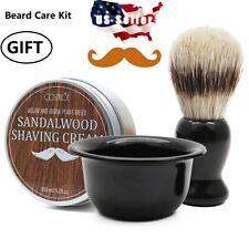Men's Shaving Set with Beard Shaving Soap, Beard Shaving Brush & Bowl