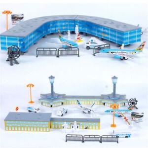 200PCS/Set Airport Playset Airplane Aircraft Models Assembled Toys Xmas Gifts