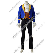 Beauty and the Beast Cosplay Costume Adam Blue Tuxedo Outfits Uniform Full Set