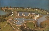 Union Springs NY Hibiscus Yacht Harbor Cayuga Lake Postcard