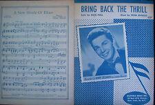 "VINNI DE CAMPO, RUGGOLO & POLL, ""BRING BACK THE THRILL,"" (1950)"