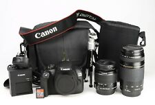 Canon 2000D DSLR Dual Lens Kit Canon EF-S 18-55mm IS II + EF 75-300mm II EXC