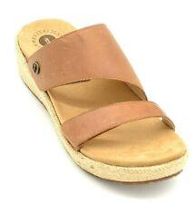 Revitalign Womens Breakwater Leather Woven Slide Sandals US Size 8 Tan New