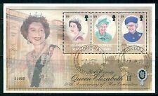 SOLOMON ISLANDS 966 Used 2003 $9 QEII 50th Anniv Coronation sheet of 3 Cat$14