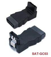 SATA 7-Pin Male to SATA Female Adapter, 90°, SAT-GC03