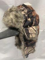 Brown Camo Aviator Bomber Faux Fur Winter Ski Trooper Trapper Ear Flap Hat Cap