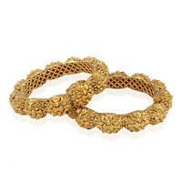 indian fashion jewelry Bangle bracelet bollywood ethnic gold plated kadas
