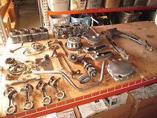 1982 Suzuki GS750 Peg Mounts Cylinder & Head Pistons & Connecting Rods Parts Lot