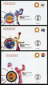 CHINA 2009 PFTN.TY-34 NBA Conference Winners in Finals Collection CC/FDC