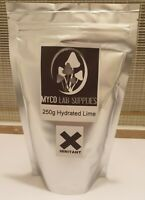 250g Hydrated Lime/Calcium Hydroxide/Pickling Lime/Caustic Lime - Mycology