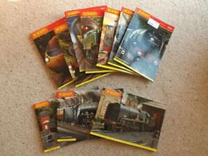 Job Lot Collection of 10 Hornby Catalogues 2005 - 2014. VG Cond. (Hospiscare)