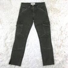 Current Elliott Snug Military Pant Skinny Cargo Combat Green Slim Size 24
