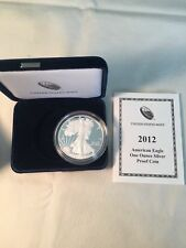 ASE American Silver Eagle 1 oz. Ounce Proof Coin 2012-W