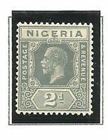 Album Treasures Nigeria Scott # 21  2p George V Mint Hinged