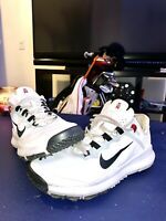 NIKE TW13 TIGER WOODS GOLF SHOES - SIZE 11- RARE WHITE GREAT CONDITION!