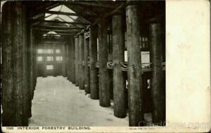 1905 Lewis & Clark Interior Forestry Building Adolph Selige Postcard Vintage