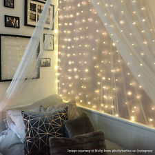 400 LED 2M x 2M INDOOR PLUG IN MICRO COPPER WIRE FAIRY STRING CURTAIN LED LIGHTS