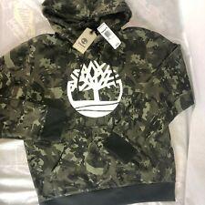 NWT Timberland Camo Hoodie Size Large Green Camouflage Hooded Sweatshirt $78