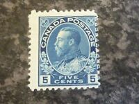 CANADA POSTAGE STAMP SG206 FIVE CENTS INDIGO LIGHTLY-MOUNTED MINT