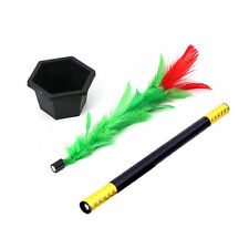 Kids Fun Toy Magic Trick Show Prop Flower Feather Sticks Comedy Stage Gift MK156