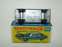 Matchbox Superfast No 53 Ford Zodiac WIDE WHEELS F Box VNMIB RARE