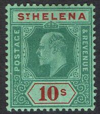 ST HELENA 1908 KEVII 10/-