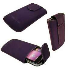 caseroxx Slide-Pouch for Samsung S5360 Galaxy Y in purple made of faux leather