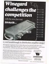 1974 Winegard DA825B Television Distribution Amplifier Vtg Print Ad