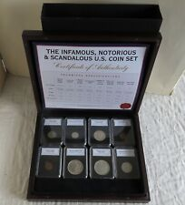 More details for usa the infamous , notorious & scandalous us 8 coin set - complete